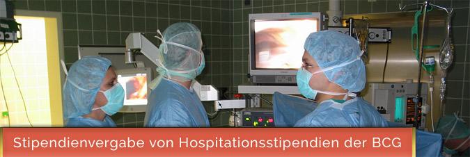 Stipendienvergabe von Hospitationsstipendien der BCG | Foto: Jost-H. Hübner via Wikimedia Commons | Stipendien für Chirurgie